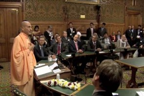 Swami Radhanatha at House of Commons