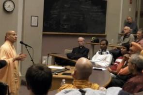Radhanath Swami at Harvard university