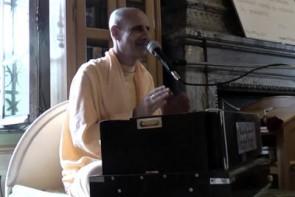 Radhanath Swami in Radhadesh